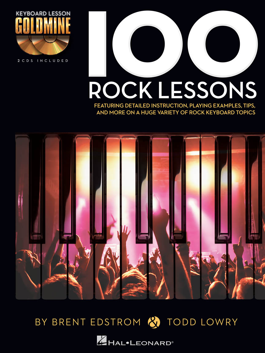 100 ROCK LESSONS KEYBOARD GOLDMINE SERIES BOOK & CD LIBRO METODO SPARTITI  MUSICA HAL LEONARD