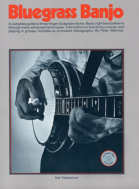 BLUEGRASS BANJO PETER WERNICK oak publications BOOK u0026 CD TABLATURE METODO SPARTITI LIBRO ...