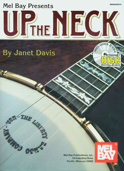 UP THE NECK BANJO JANET DAVIS 2CD TABLATURE BOOK SPARTITI METODO : SPARTITI PER BANJO, MANDOLINO ...