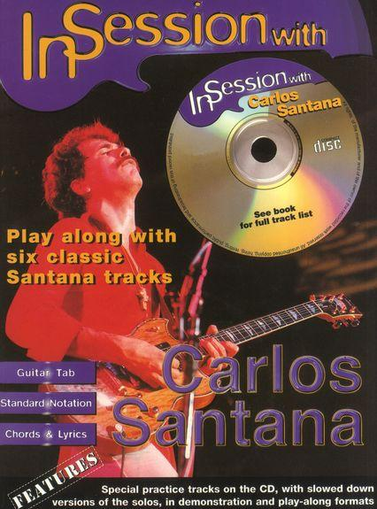 Santana In Session Book Cd Guitar Tablature Chitarra Libro Flor De