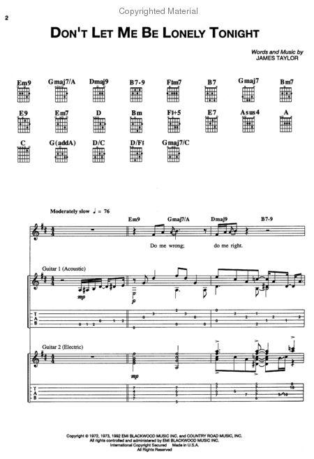 Taylor James Classic Authentic Guitar Tab Tablature